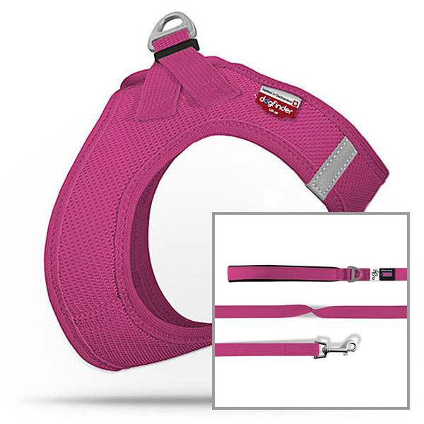 Vest harness Air-Mesh SE17 + Basic Leash Nylon 140