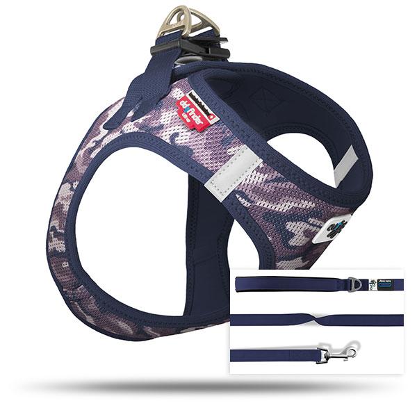 Vest Harness Air-Mesh SE18 + Basic Leash Niagara-Camo