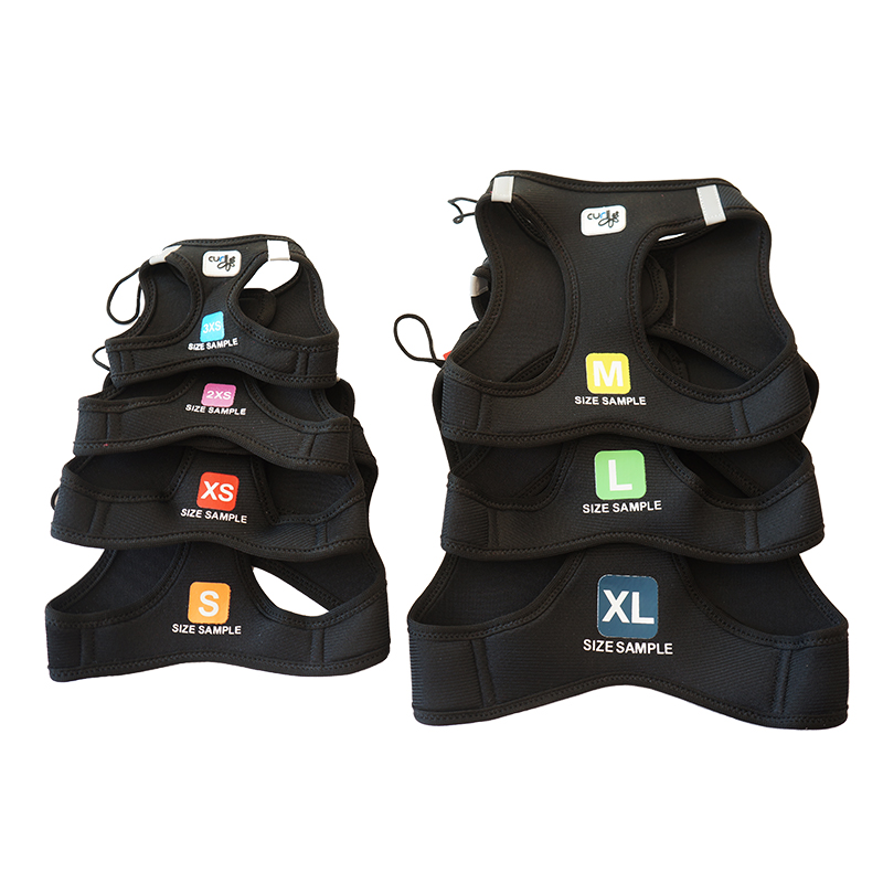 Vest Harness sizing sample SET 3XS - XL