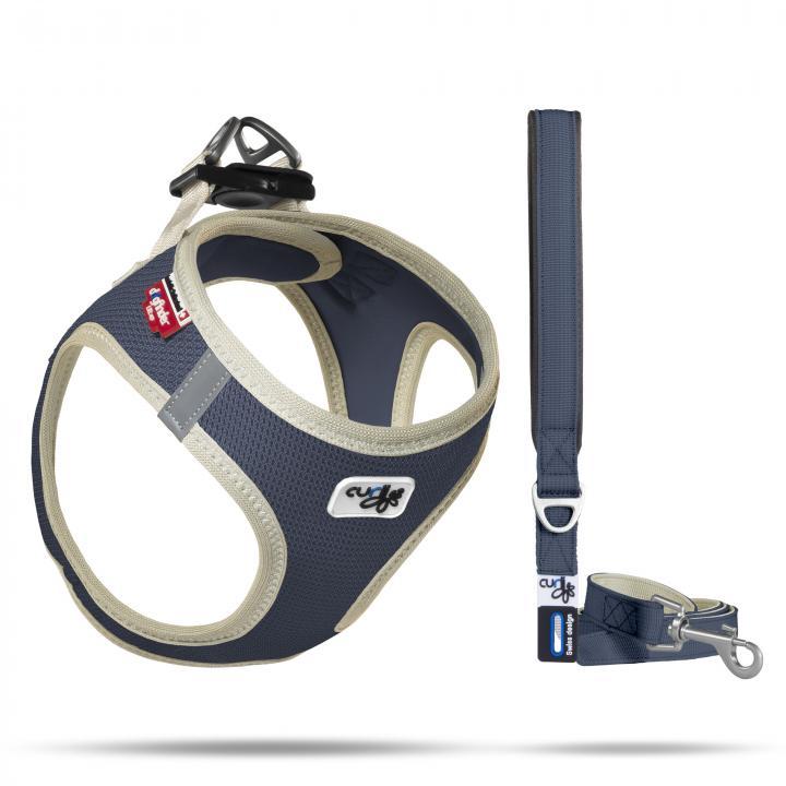 Set Vest Harness Air-Mesh SE20 + Basic leash  Peacoat