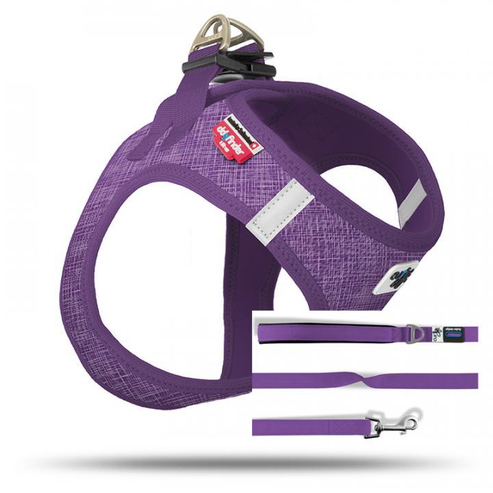 Set Vest Harness Air-Mesh SE19 + Basic leash  Linen-Lilac