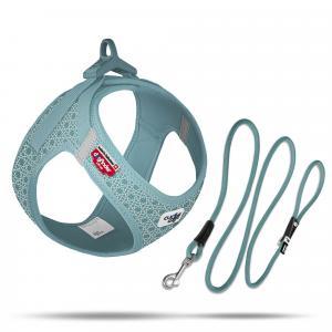 Set Vest Harness curli Clasp Air-Mesh SE22 + Stretch Comfort leash